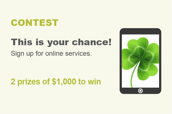 Contest: This is your chance! Sign up for online services